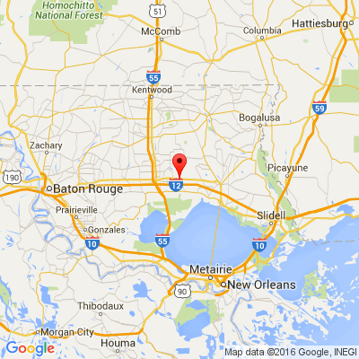 Google Map of 23083 Highway 190 E, Robert, LA 70455