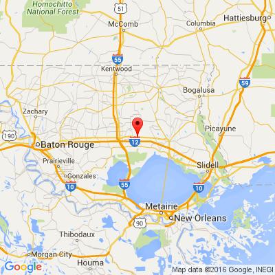 Google Map of 23083 Highway 190 E, Robert, LA 70455
