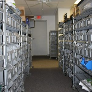 Our Facility Asset Storage with bar code tracking