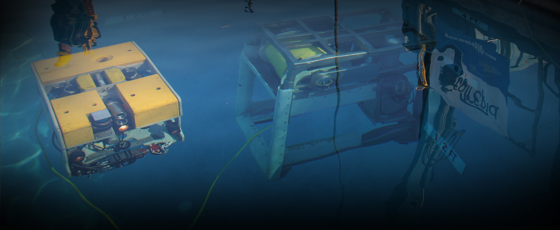 ROV in Test Pool at SeaTrepid facility
