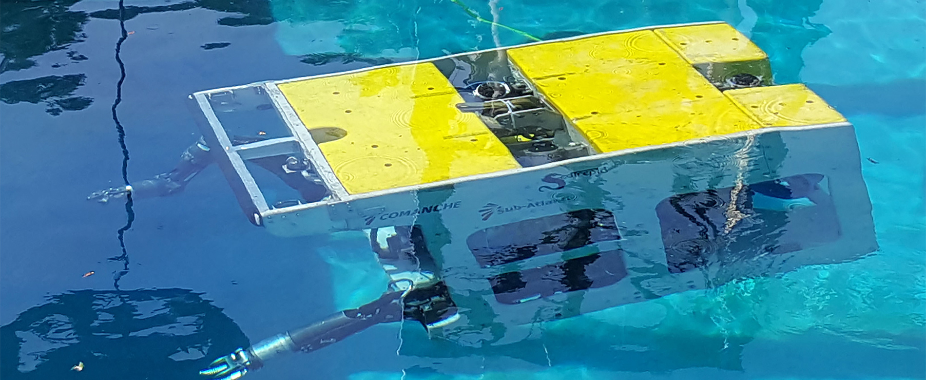 Comanche ROV in Underwater Test Pool at SeaTrepid Facility