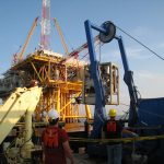 SeaTrepid Mohican ROV Launch at platform off vessel