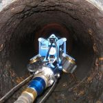 Versatile Tracking Vehicle Crawler at work in a pipe