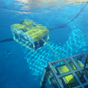 Mohican ROV in Underwater Test Pool