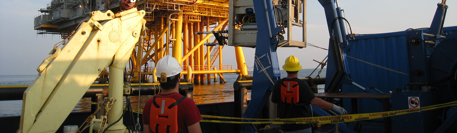 Mohican ROV Launch at platform job site from vessel